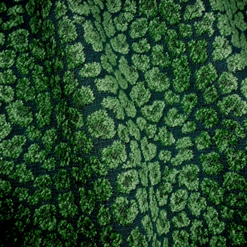 Chenille Jacquard - Spots Emerald Malachite, 56in, 26% Polyester, 52% Rayon, 22% Cotton, Repeat 3.4H x 6.3V, 15K DR. Dry Clean Only