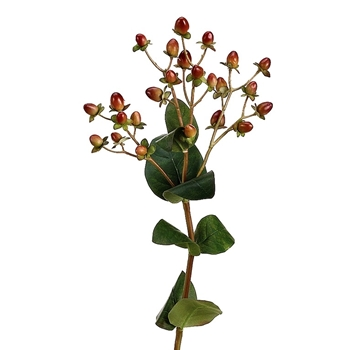 Berry - Hypericum Pick Burgundy Green 24in - JTH200-BU/GR