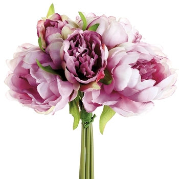 Peony - Bouquet Violet 9.5in - FBQ315-VI