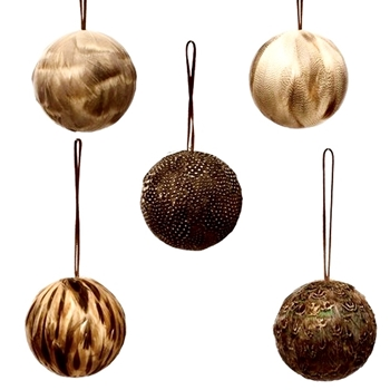 01. Ornament - Feather Ball 3in Assorted Sold individually