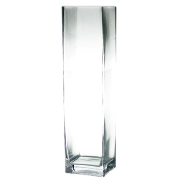 Vase - Cube Tall Clear 6W/6D/24H