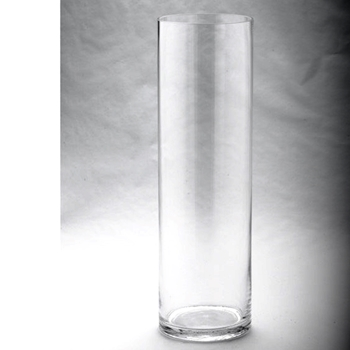 Vase - Cylinder Tall Clear 6W/6D/20H