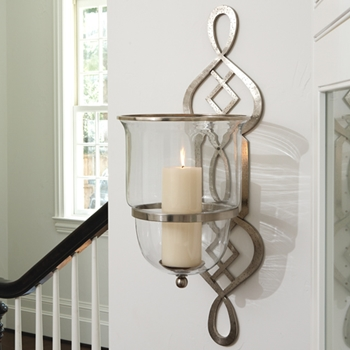 Grand Fret Nickel Sconce