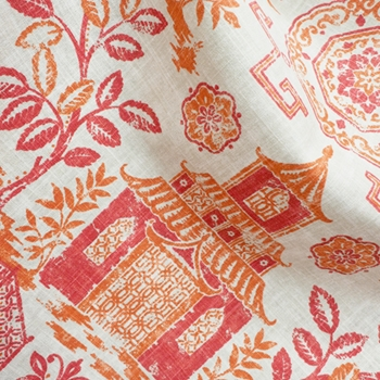 77. Coral Toile Teahouse