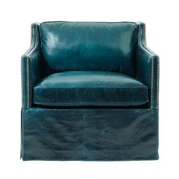 Delano Chair 30W/39D/30H Teal Leather