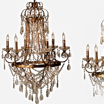 Lille Chrystal Chandelier 28W/39H