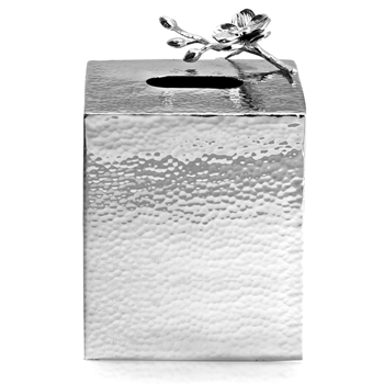 Aram Orchid White Vanity Tissue Box 6IN