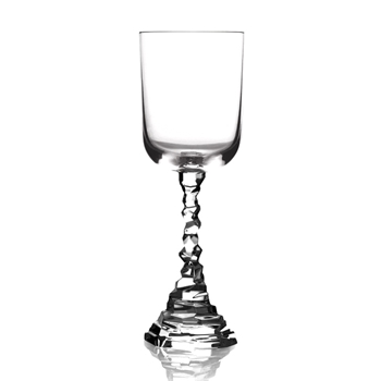 Aram Rock Crystal Wine Goblet  9OZ