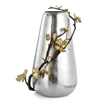 Aram Butterfly Gingko Vase Centrepiece 10W/19H