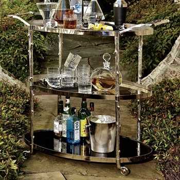 Bar Cart - Arbor Nickel 43W/20D/38H