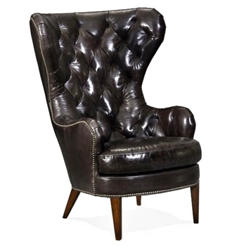 Armchair Wingback - Souvereign Tufted Leather 34W/40D/48H