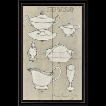 17W/26H Framed Print - Serving Dishes