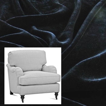 Armchair Julia Black Velvet 31W/37D/35H