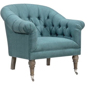 Armchair - Paris Tufted Azure 34W/33D/34H