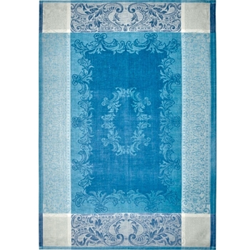 Tea Towel Linen Majesty French Blue Lagoon 28x20