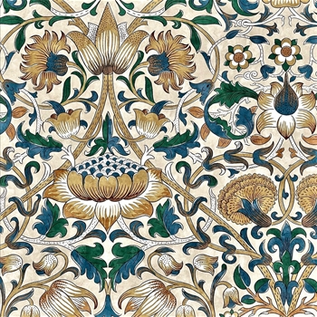 Floorcloth - Lodden Manilla & Bayleaf - Detail 20SQ - Morris & Co
