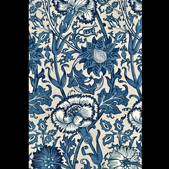 Floorcloth - Pink & Rose Indigo 30W/20D - Morris & Co