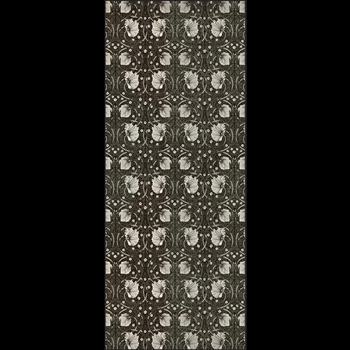 Floorcloth - Pimpernel Black 36W/90L Runner - Morris & Co