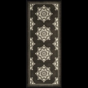 Floorcloth - Indian Loop Charcoal & Clay 36W/90L - Morris & Co
