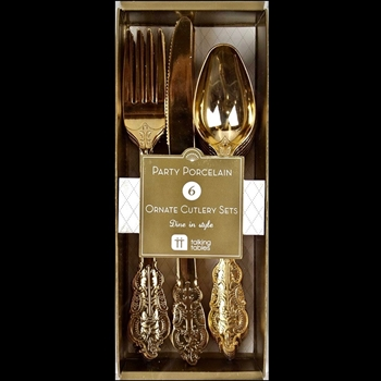 Alice - Golden Flatware 6Place Setting Box