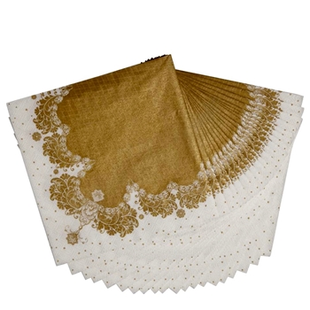 Alice - Paper Napkin Gold Lace Lunch