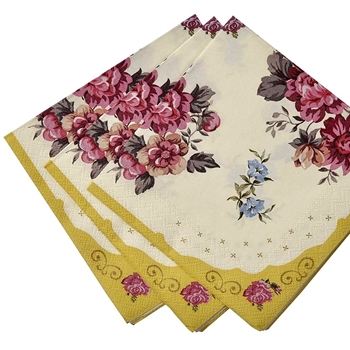 Alice - Paper Napkin Chintz Golden Lunch