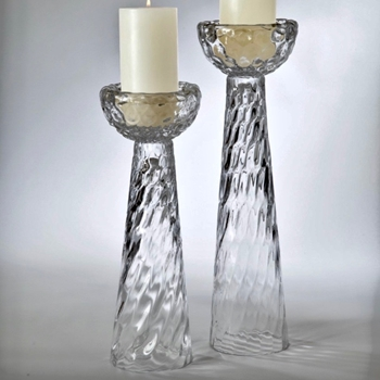 Candle Holder Honeycomb Glass SHORT 5W/15H
